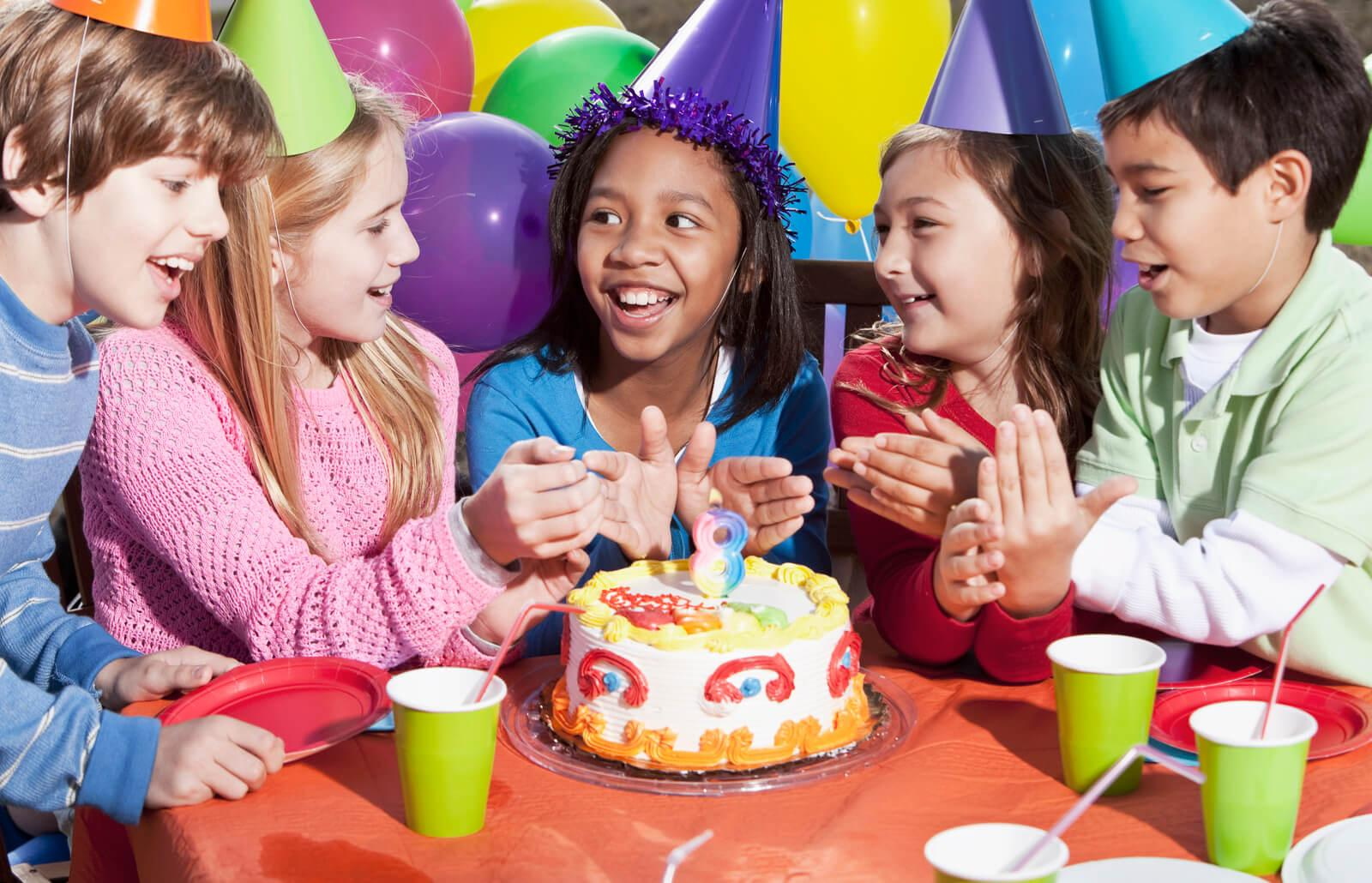group of kids at a birthday party